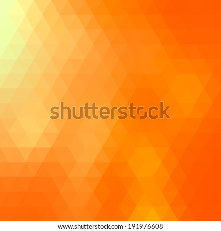Digital triangle pixel mosaic,  bright, red, orange color abstract background - stock photo