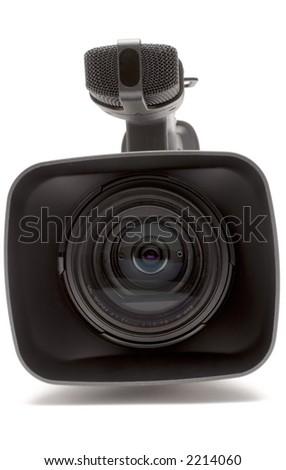 Digital Video Camera (Close Front View) - stock photo