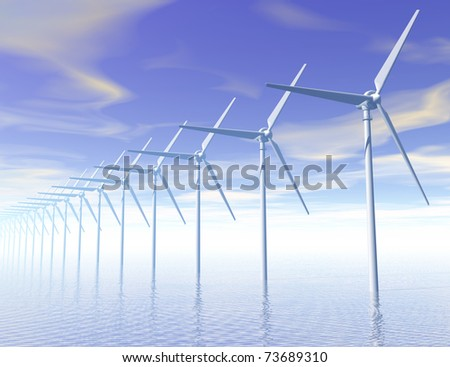 Digital visualization of a wind generator