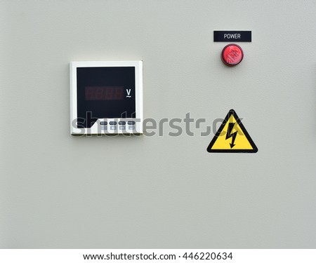 Digital voltmeter. Installed in the electrical control box.