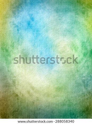 Digital Watercolor background with texture. - stock photo