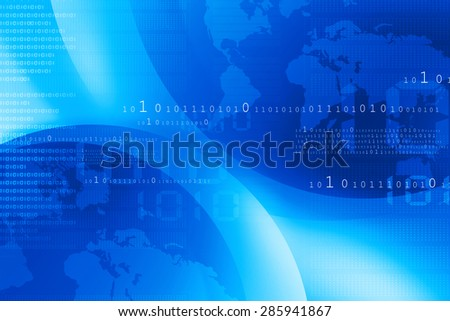 Digital world , global internet technology
