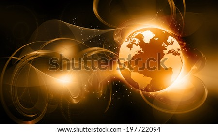 Digital world  on abstract background 	 - stock photo