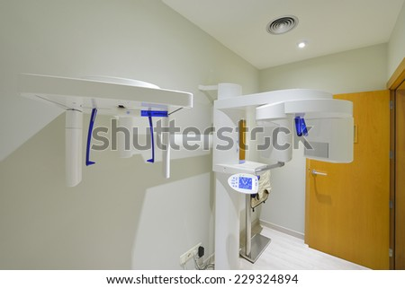 digital X-ray system equipment for dental diagnostic examination - stock photo