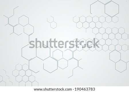 Digitally generated chemical structure in grey and white
