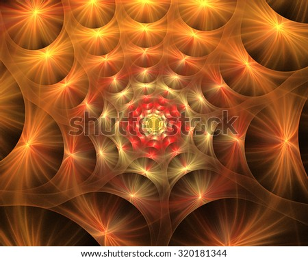 Digitally generated image made of colorful fractal to serve as backdrop for projects related to fantasy, creativity, imagination, art and web design.