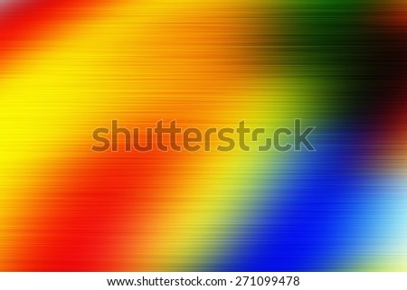digitally generated image of colorful black background with blur horizontal speed motion lines - stock photo