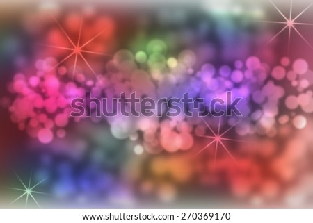 digitally generated image of colorful black background with wonderful twinkling bokeh - stock photo
