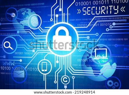 Digitally Generated Image of Online Security Concept - stock photo