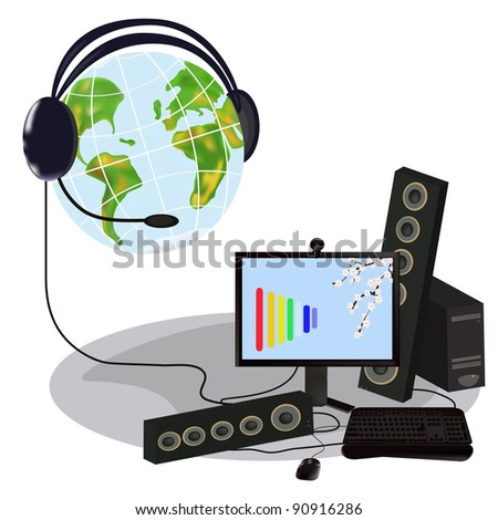 digitally technology in all the world. - stock photo