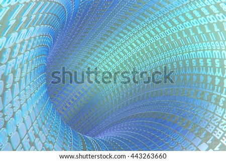 Digits and letters - abstract computer background. - stock photo