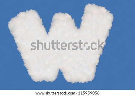 digits  made from cloud  on blue sky background