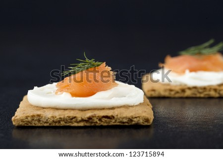 Dill Biscuits With Smoked Salmon, Watercress and a Creamy Dill ...