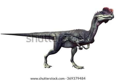 Dilophosaurus - stock photo