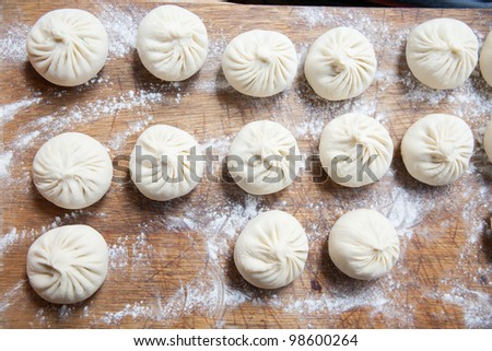 Dim sum dumplings traditional buns - stock photo