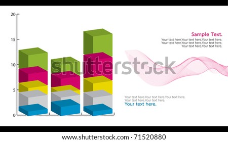 dimension stack chart - stock photo