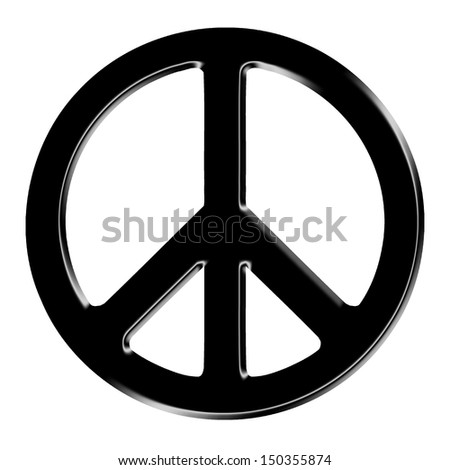 dimensional peace sign - stock photo