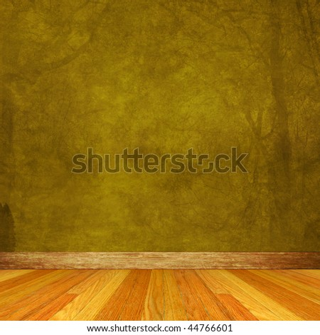 Dimensional Room with Wood Floor