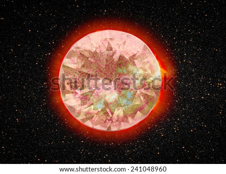 """Dimond sun """"Elements of this image furnished by NASA """"  - stock photo"""