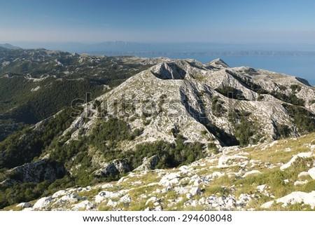 Dinaric Alps, mountain massif Biokovo, Croatia. - stock photo