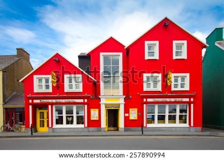 DINGLE, IRELAND - MARCH 28, 2013:  View of landmark charming Inn seen in the popular tourist destination, Dingle Ireland. - stock photo