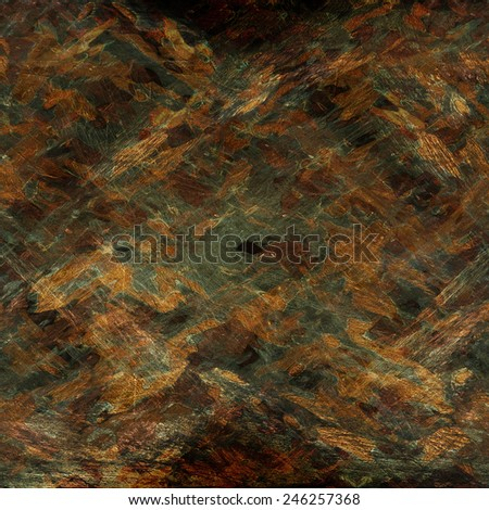 dingy camouflage on natural canvas - stock photo