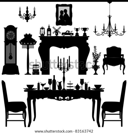 Furniture silhouette Stock Photos, Images, & Pictures ...
