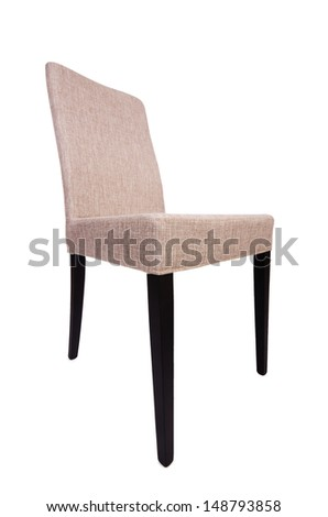 Dining room chair isolated on white