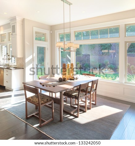 Dining Room in New Home - stock photo