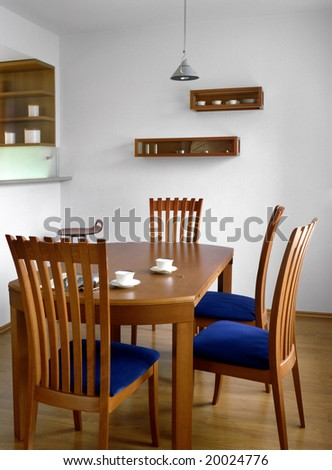 dining room in the flat - stock photo