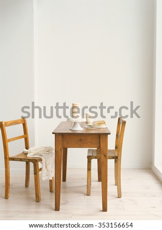 dining room interior - stock photo