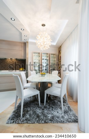dining room -table and chairs - stock photo