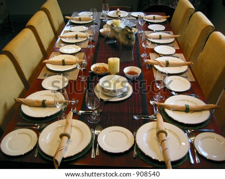 Dining setting - stock photo