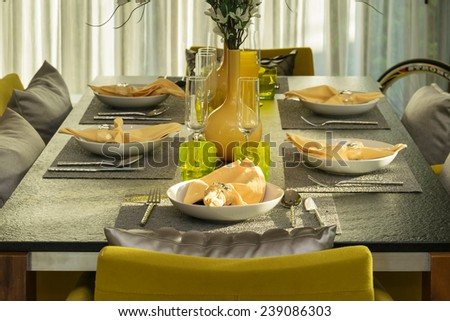 Formal Breakfast Table Setting breakfast table setting stock images, royalty-free images