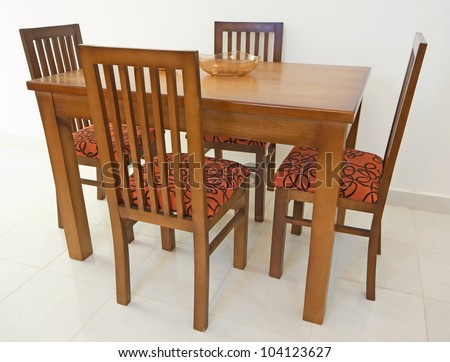 Wooden Dining Table Stock Images Royalty Free Images Vectors