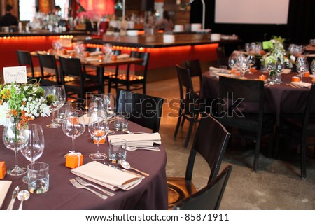 Dining table in a restaurant. - stock photo