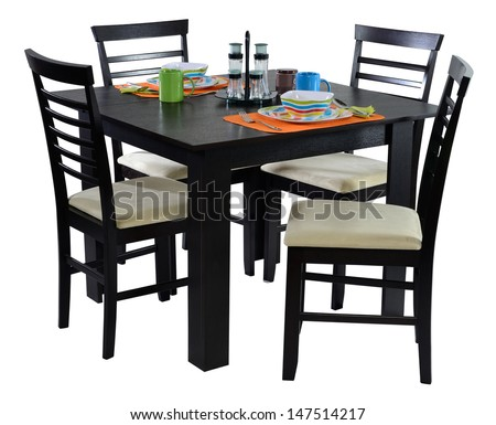 Dining table. Isolated