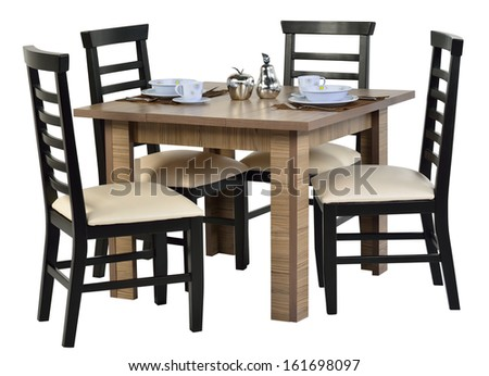 Dining table isolated.