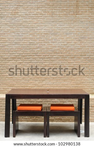 Dining table; Modern simplicity style. - stock photo