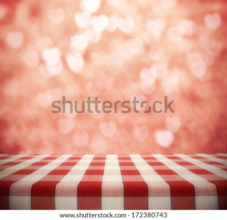 dinner table background. Dining Table On Hearts Bokeh Background Dinner E