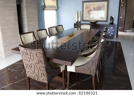 Dining Table Set New Modern Luxury Stock Photo (Edit Now)- Shutterstock