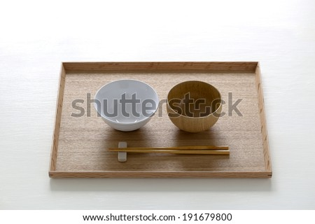Dining table, which is a set of Japanese food - stock photo