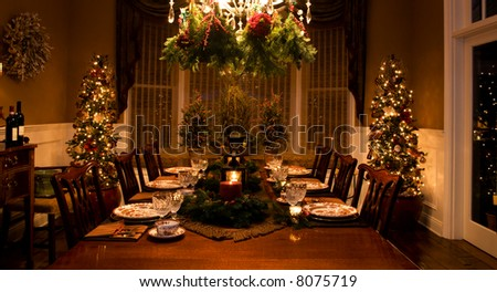 Dinner Setting - stock photo