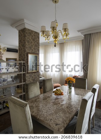 Dinning and living room interior