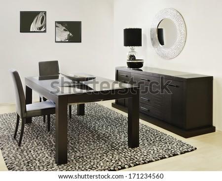 dinning room - stock photo