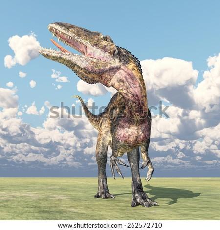 Dinosaur Acrocanthosaurus Computer generated 3D illustration - stock photo