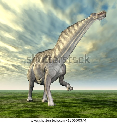 Dinosaur Amargasaurus Computer generated 3D illustration