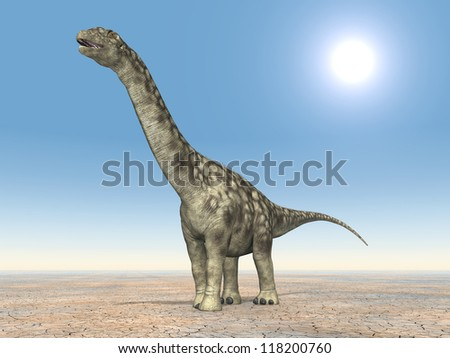 Dinosaur Argentinosaurus Computer generated 3D illustration - stock photo