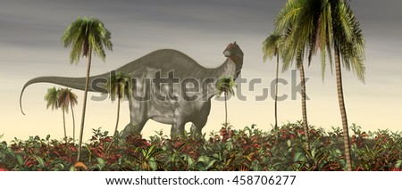 Dinosaur Brontosaurus Computer generated 3D illustration