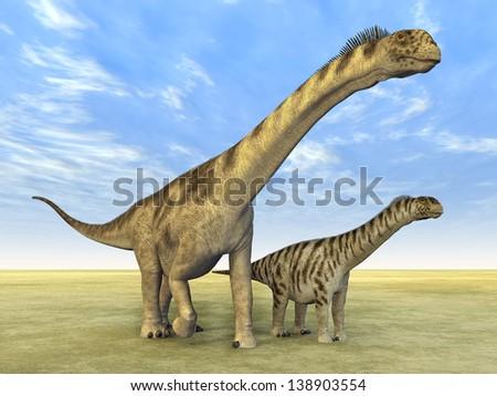Dinosaur Camarasaurus Computer generated 3D illustration - stock photo